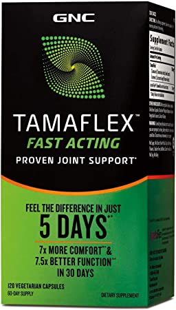GNC TamaFlex Fast Acting, 120 Vegetarian Capsules, Joint Support