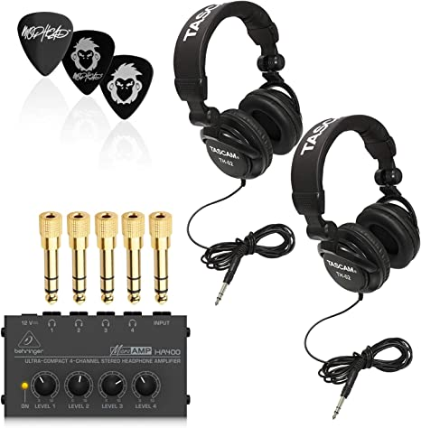 Behringer HA400 - Amplificador de Auriculares (4 Ch con 2 ...