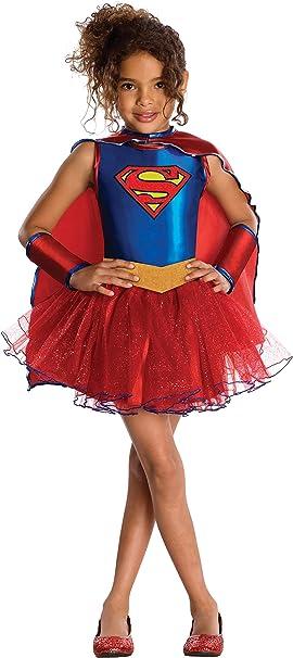 Oferta amazon: Rubies - Disfraz oficial de Supergirl con tutú de la serie de TV Superhero Girls para niña