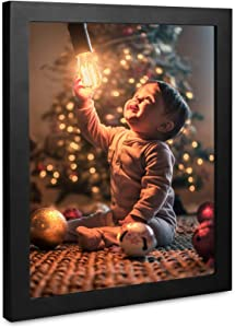 A Selected 6 Packs 8x10 Picture Black Wood Frames with Picture Hanging Kits for Wall Picture and Table Desk Top