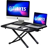 FITUEYES Standing Desk Converter Height Adjustable Desktop Workstation Monitor Riser Stand for Dual Monitor Sit to Stand…