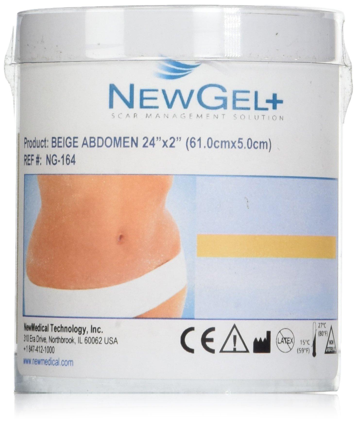 NewGel+E 18 X 2 Abdomen/Extremity Silicone Strip - BEIGE (1 Strip per box)