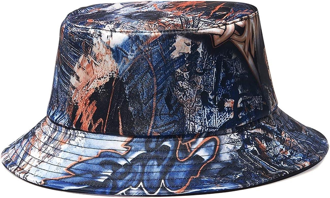 Quanhaigou Bucket Hat for Men Women,Packable Reversible Printed Sun Hats,Fisherman Outdoor Summer Travel Hiking Beach Caps