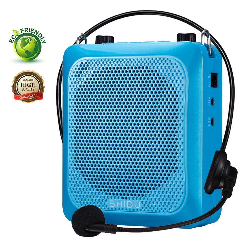 Voice Amplifier with Bluetooth,SHIDU Portable Microphone Headset with Speaker Personal Mini Pa System Outdoor Bluetooth Speaker for Teachers,Tours,Classroom,Elderly,Fitness Instructors,Singing