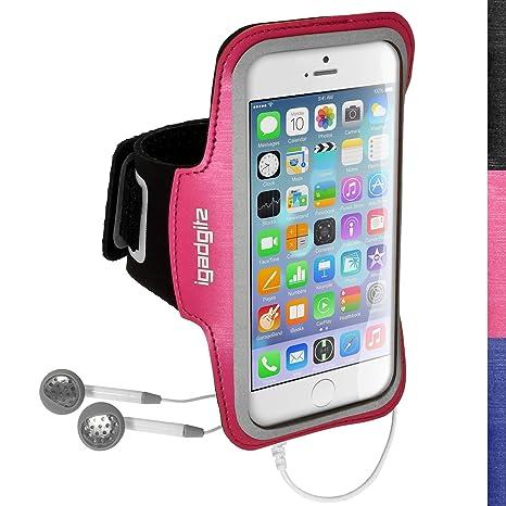 igadgitz Sports Gym Jogging Armband Fall Schwarz, Pink – Handys (Armband Fall, Apple, iPhone 6 Hüllen, schwarz, pink)