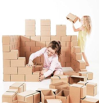 GIGI Bloks - Bloques de Construcción Gigantes de Cartón, Juegos de Construcción para Niños 60 Piezas XXL, Kits de Ladrillos Para Grandes Construcciones Infantiles de Castillos y Torres Grandes: Amazon.es: Juguetes y