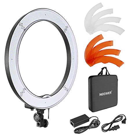 neewer luce ad anello led  Neewer Luce ad anello a LED da 18 pollici con kit microfono: Amazon ...
