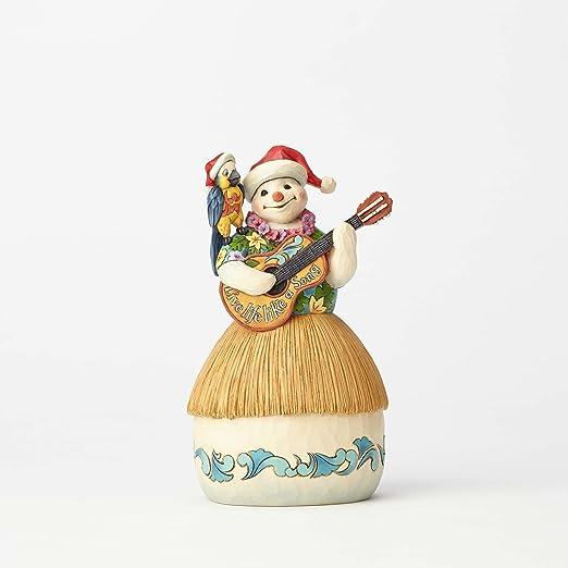 "Enesco Jim Shore Heartwood Creek Margaritaville Tropical Snowman with Guitar Stone Resin, 8.5"" Figurine"