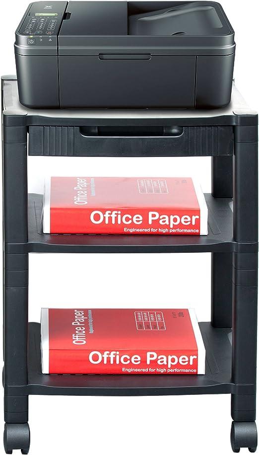 Mind Reader PRCART-BLK - Soporte para impresoras carro con cable ...