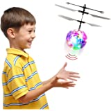 Flying Helicopter LED Magic Ball Toy, RC Infrared Induction Light Up Flying Disco Drone Ball – Safe, Easy & Rechargeable – With Motion and Object Sensor, and Remote Control – Kids Toy for Boys and Gi