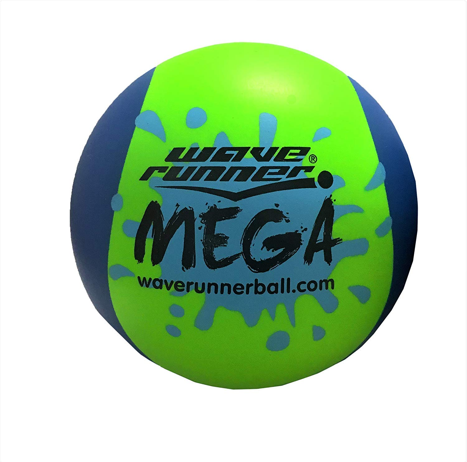 Wave Runner Mega Ball #1 Water Ball for Skipping and Bouncing The Perfect Pool Ball and Ocean Ball (Green) by Wave Runner