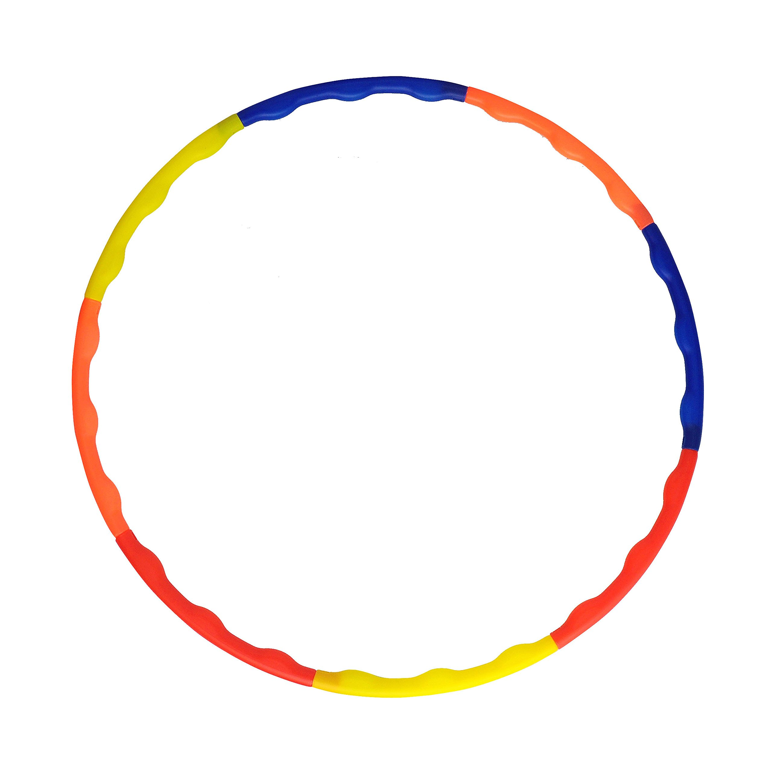 Grazzo Adults Hula Hoop Fitness Fun Waterproof Plastic Collapsible in 8 Pieces Multicolor