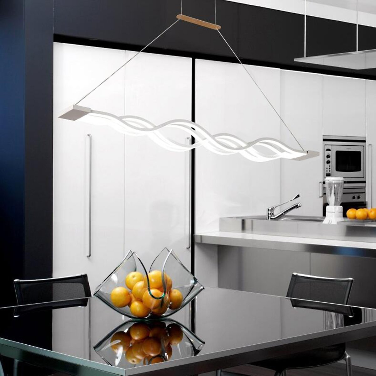 kjlars led pendelleuchte esstisch hngelampe wohnzimmer kche led pendellampe moderne aluminium hngeleuchte hhenverstellbar pendellnge maximum 120cm - Hangeleuchte Wohnzimmer Led