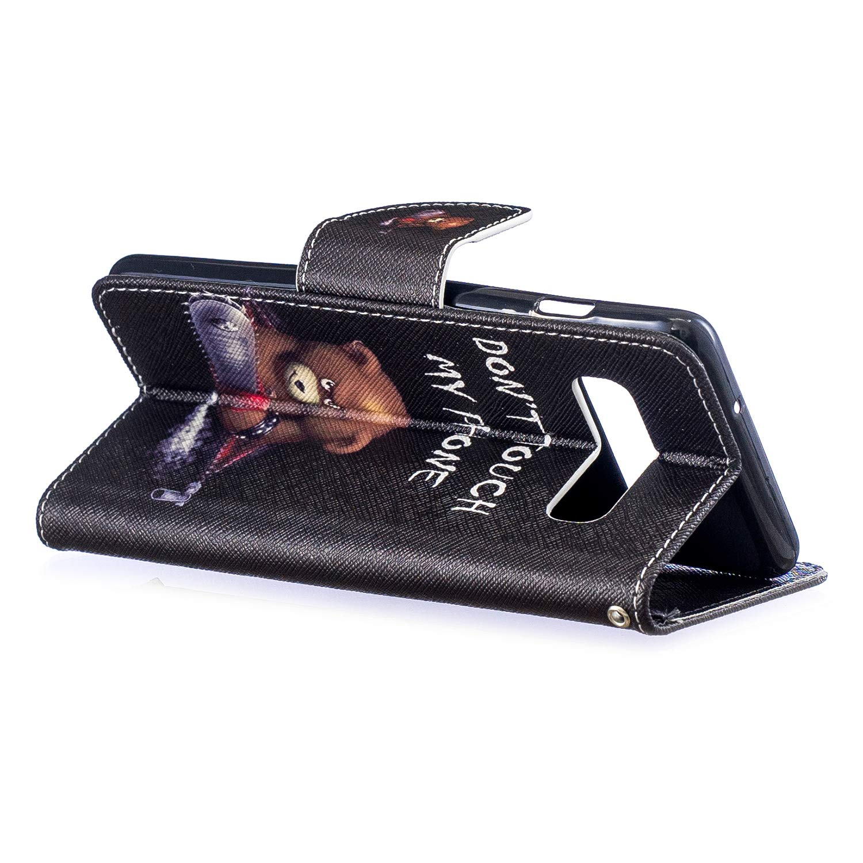 Gemalt Halter Handyh/üllen Kompatibel mit Samsung Galaxy S10 H/ülle-Blinkender Panda WIWJ Schutzh/ülle f/ür Samsung Galaxy S10 Handyh/ülle Lederh/ülle Flip Wallet Cover