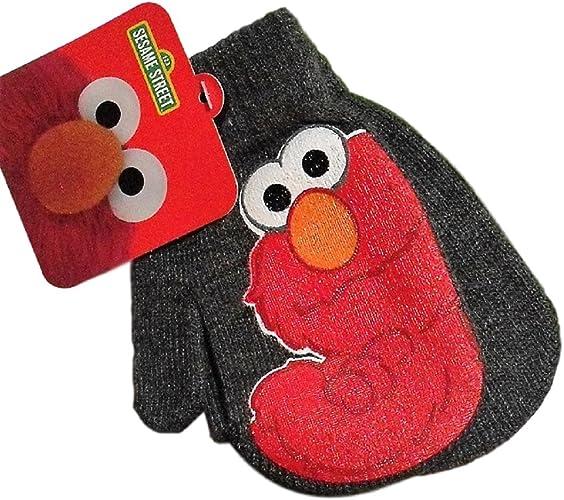 MITTENS set knit kid child youth girl boy LND Sesame Street costume Grover HAT