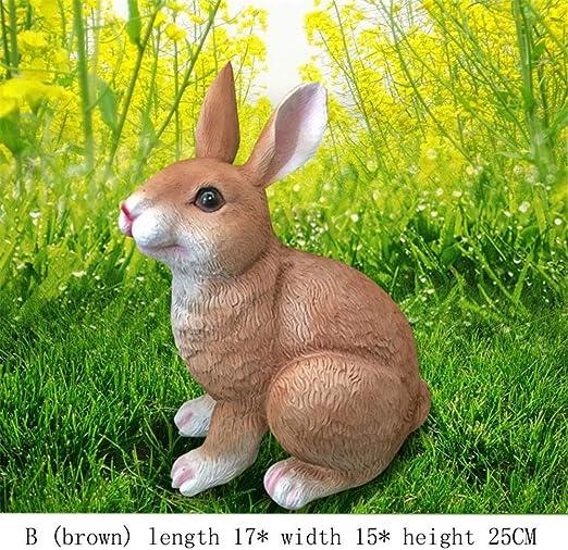 MAATCHH-HGD Decoración en Hierro Fundido Conejos Conejos Adornos ...