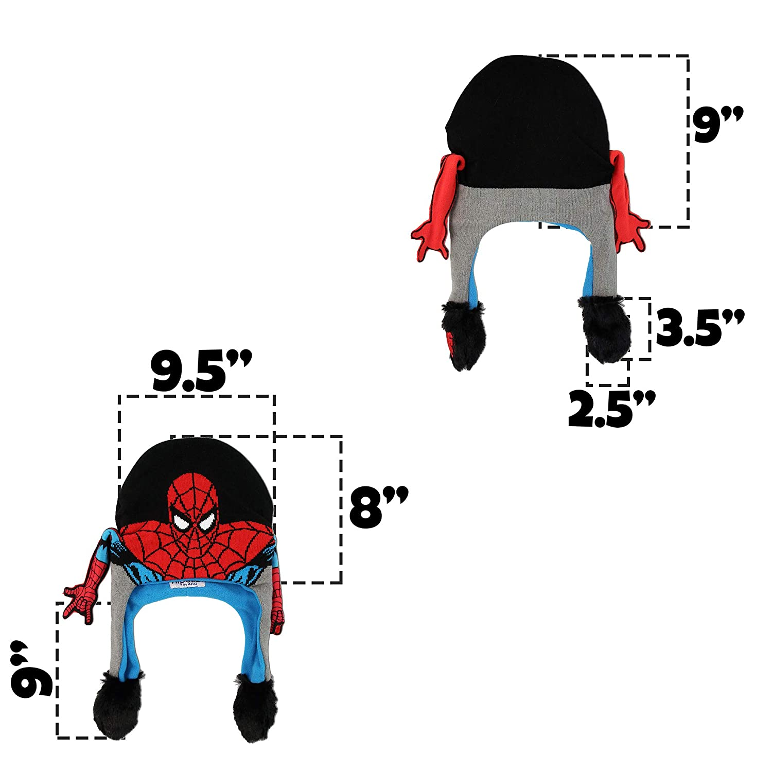 multi//color Marvel Boys Little Spiderman Squeeze and Flap Fun Cold Weather Hat Age 4-18