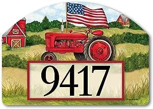 Magnet Works Yard Designs Yard Sign - Patriotic Tractor