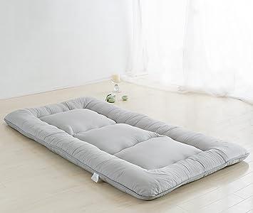 light grey futon tatami mat japanese futon mattress cheap futons for sale luxury bedding christmas gift amazon    light grey futon tatami mat japanese futon mattress      rh   amazon