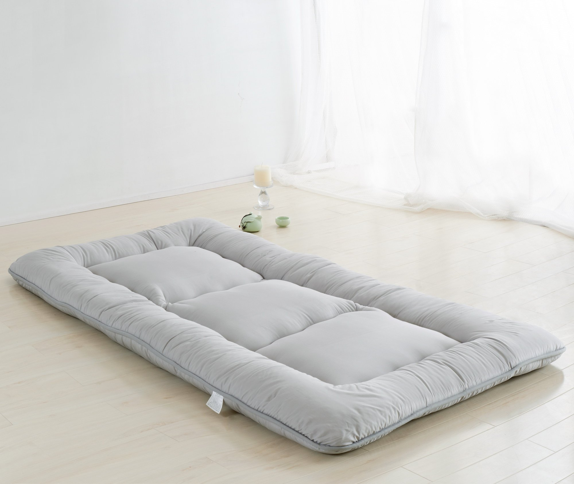 Light Grey Futon Tatami Mat Japanese Futon Mattress Cheap Futons For Sale Luxury Bedding Christmas Gift Idea, Twin Size