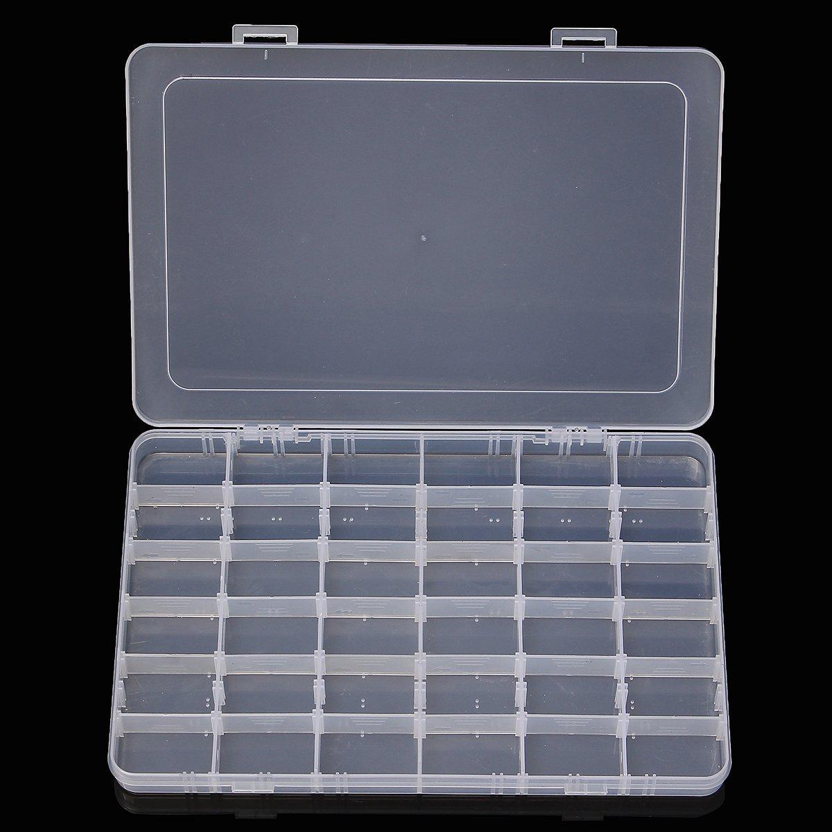 KUNSE Neue Slots Kunststoff Aufbewahrung Box Best/ücken Case Home Organizer Schmuck Perlen Box