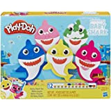 Play-Doh Baby Shark Play Set - Pinkfong - 12 Tubs of Dough - Creative Kids Toys - Ages 3+