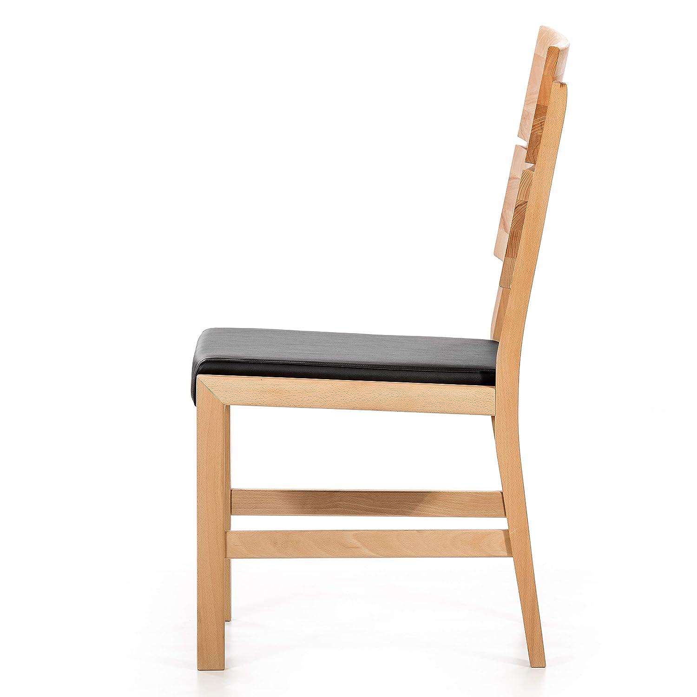 Set da 2 sedie per sala da pranzo in legno massello con seduta imbottita Alkove in faggio Hayes