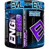 Evlution Nutrition ENGN SHRED Pre workout Thermogenic Fat Burner Powder, Energy, Weight loss, 30 Servings (Furious Grape)