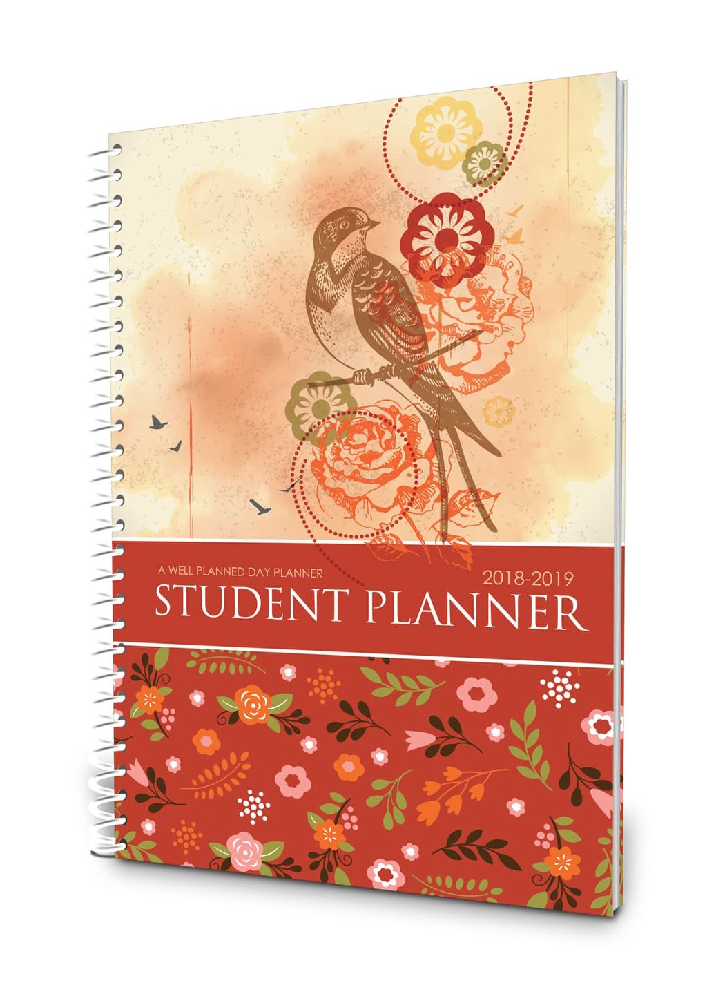 Well Planned Day, Student Planner Floral Style, July 2018 - June 2019