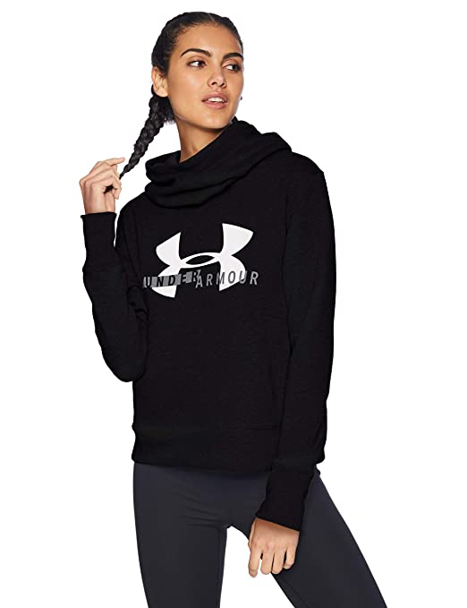 brand new 5ee6b 2e108 Under Armour Women s Cotton Fleece Sport Style Logo Hoodie Warm-up Top   Amazon.co.uk  Sports   Outdoors