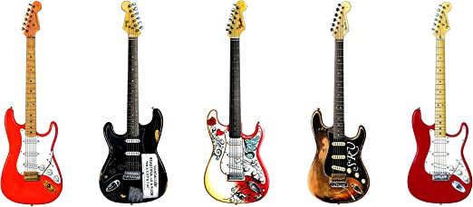 George Morgan Illustration Famosa Fender Stratocaster Guitarras #1 ...