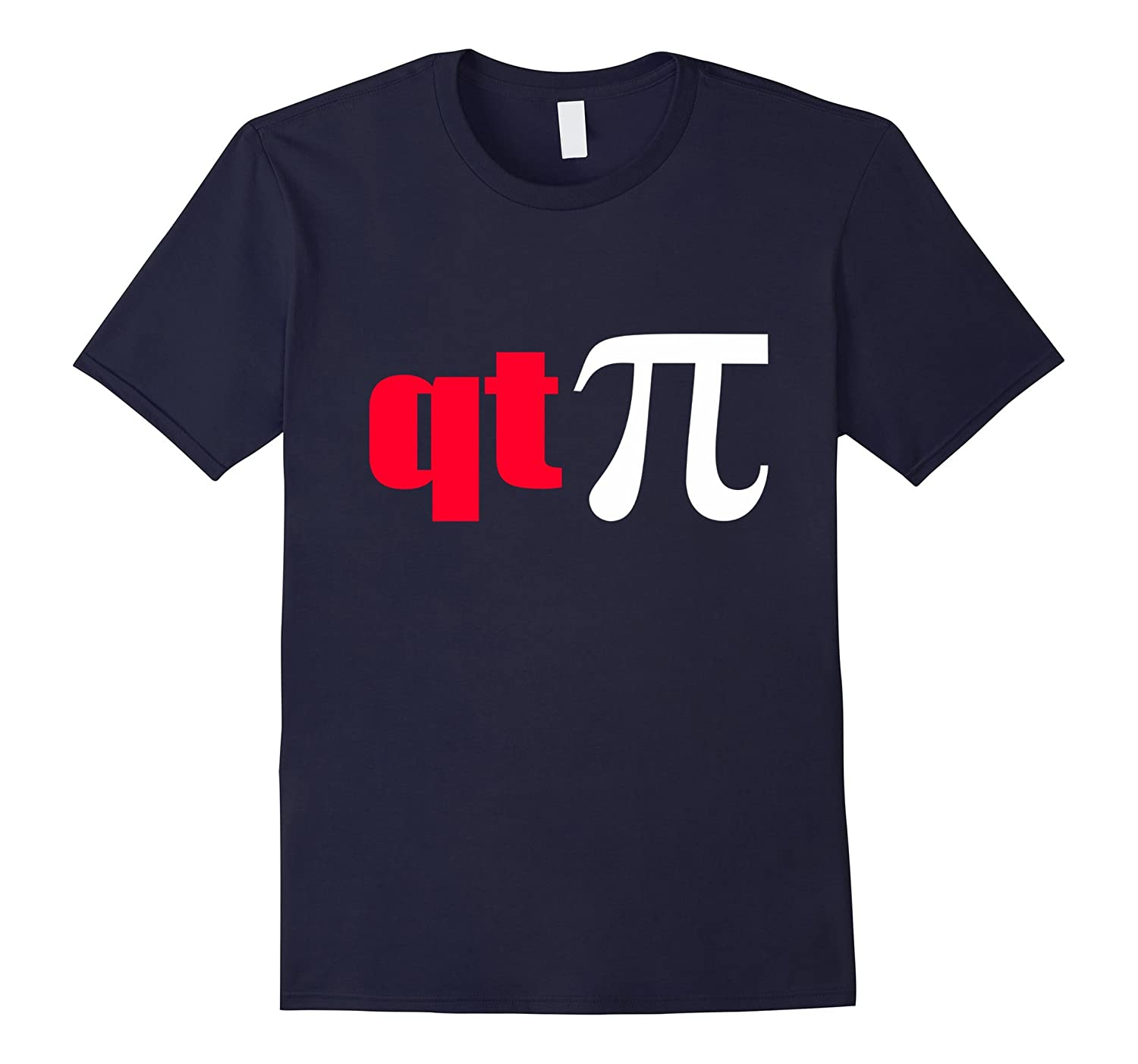 QT Pi Symbol T-Shirt - Funny Cutie Pie Math Science Geek Tee-TD