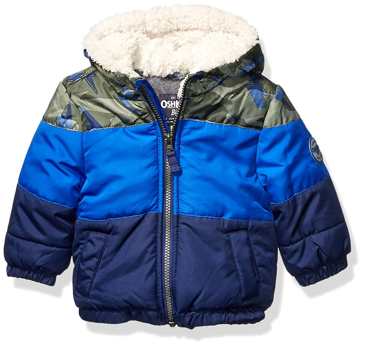 OshKosh BGosh Baby Boys Heavyweight Winter Jacket W//Sherpa Lining