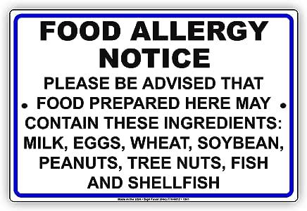 Aviso para alergias de alimentos por favor se aconseja comida ...