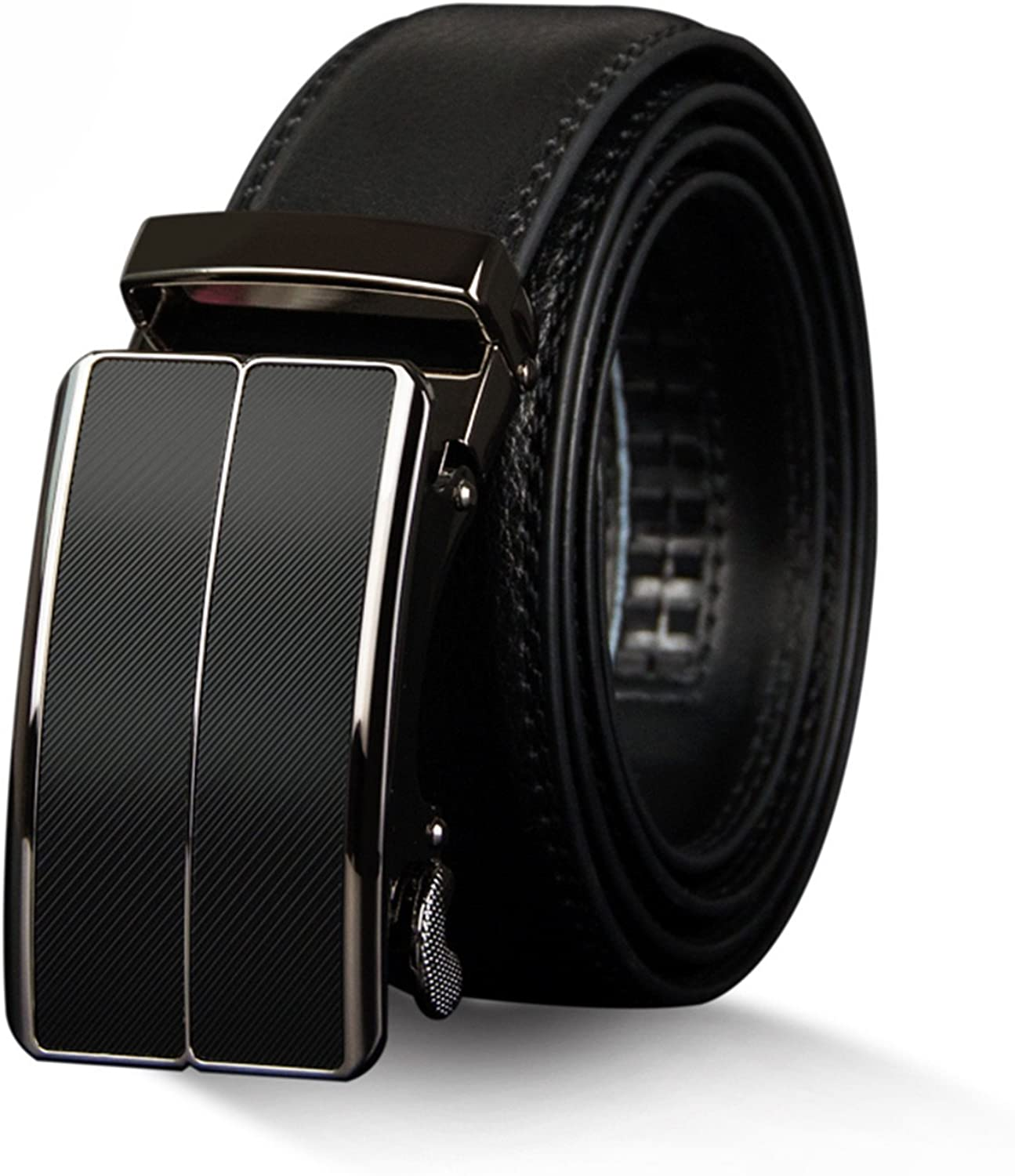 Anieca Cow Genuine Leather MenS Belt Automatic Buckle Belts Alloy Buckle Belts