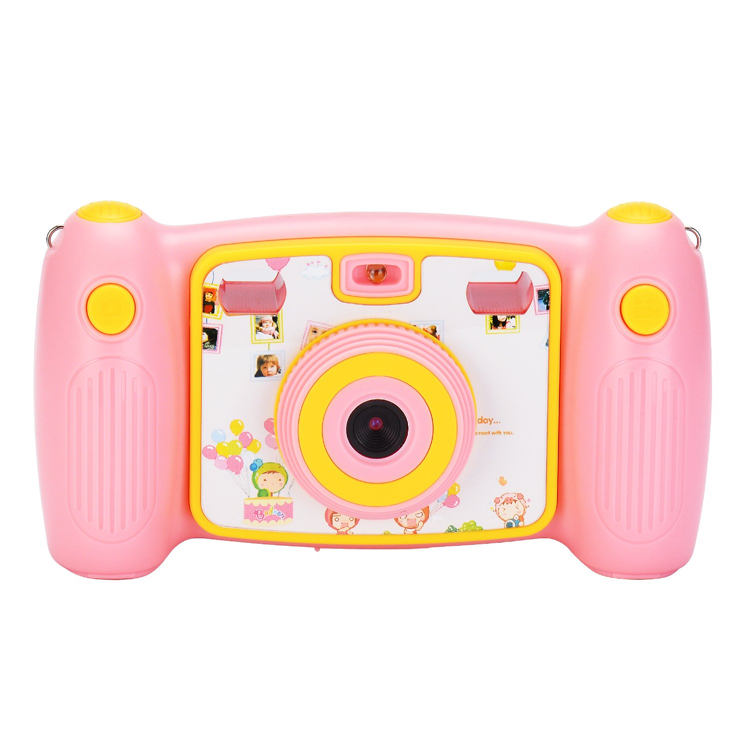Jusinhel Cute Kids Action Camera for Children Digital Video HD Camcorder DV for Holiday Birthday Gift - Pink