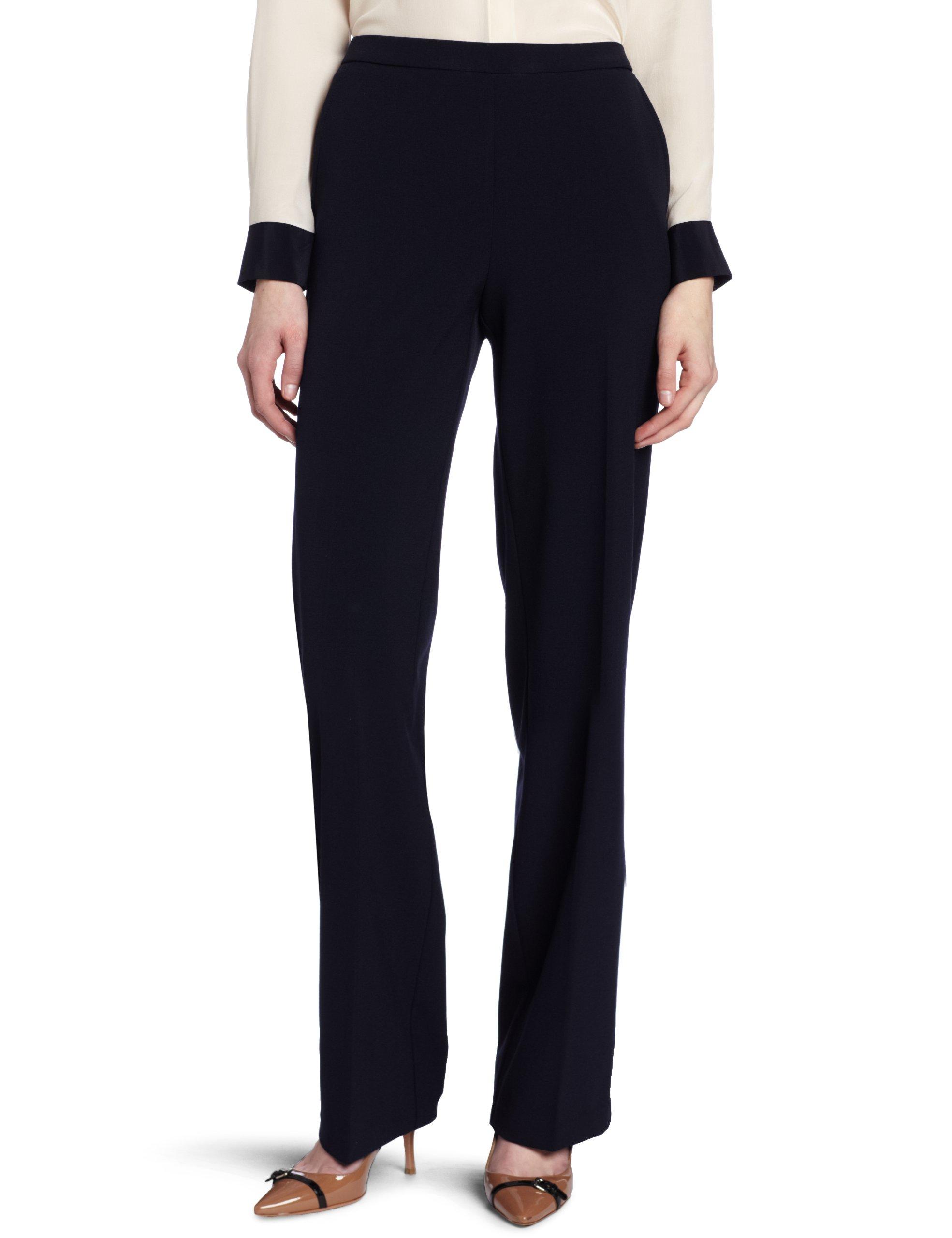 Briggs New York Women's Short Flat Front Pant, Navy, 16