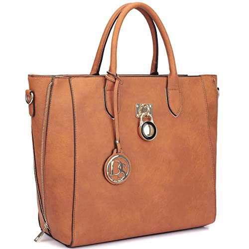 1bd9fc764dd3 Dasein Women s Designer Large Laptop Top Handle Structured Tote Bag Satchel  Handbag Shoulder Bag Purse  Amazon.co.uk  Shoes   Bags