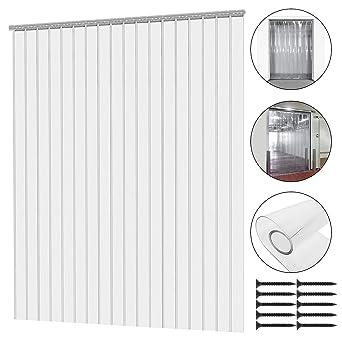 Plastic Door Curtain Strips.Mophorn 12pcs Plastic Curtain Strips 82 6 Inch Height X 6 Inch Width Strip Door Curtain 0 078 Inch Thickness Clear Curtain Strip For Warehouse Doors