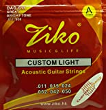 Ziko DAG-011 Extra Light Special Acoustic Guitar Strings (Gold)