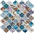 "STICKGOO 10-Sheet Premium Arabesque Tile Peel & Stick Backsplash, 12""X12"" Decorative Mosaic Tile Stickers (Thicker Design)"