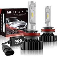 H11/H16/H8/H9 LED Headlight Bulbs Conversion Kit, DOT Approved, SEALIGHT X1 Series 12x CSP Chips - 6000LM 6000K Xenon White, 2 Yr Warranty