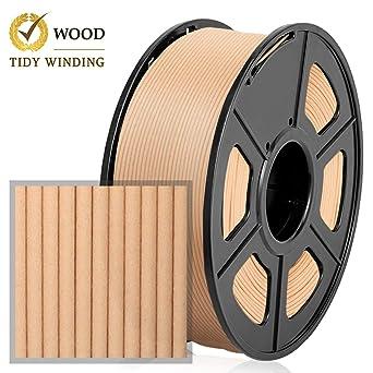 Filamento madera PLA 1.75 mm, 1 kg, bobinado ordenado actualizado ...