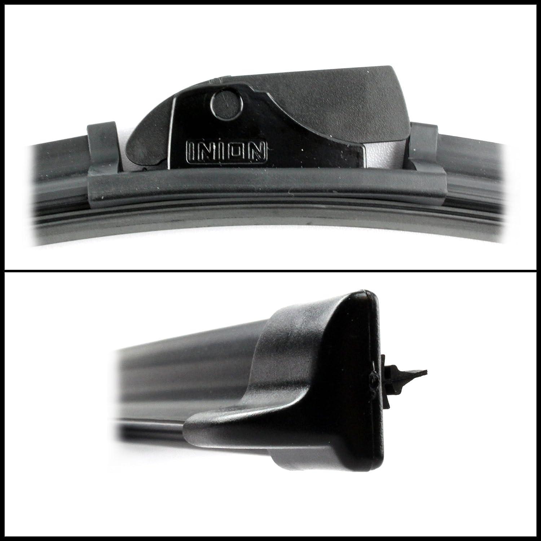 SET 2x INION/® Front Scheibenwischer 650 mm//350 mm Wischerbl/ätter Set Scheibenwischerbl/ätter Satz Premium Qualit/ät AERO f/ür Frontscheibe mit den passenden UNIVERSELLE Adaptern