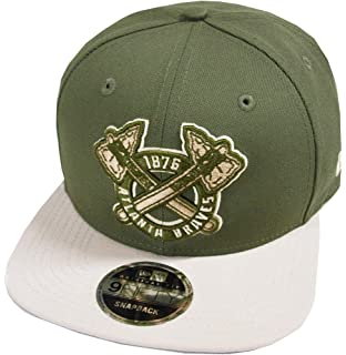 size 40 a696e c1f6d New Era Atlanta Braves Olive MLB Cooperstown Snapback Cap 9fifty Limited  Edition