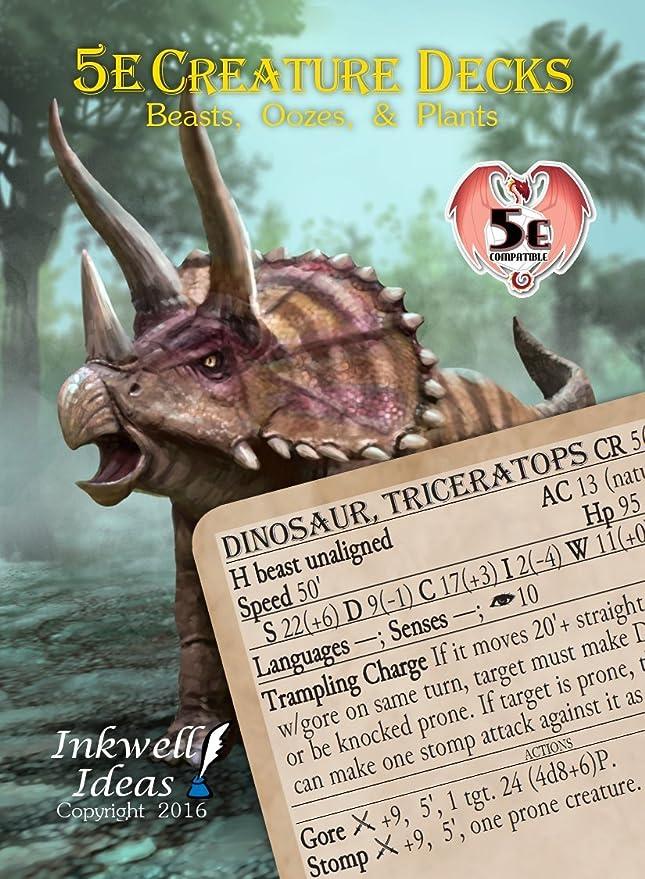 138bcaa013f Amazon.com  Inkwell Ideas 5e Creature Decks  Beasts