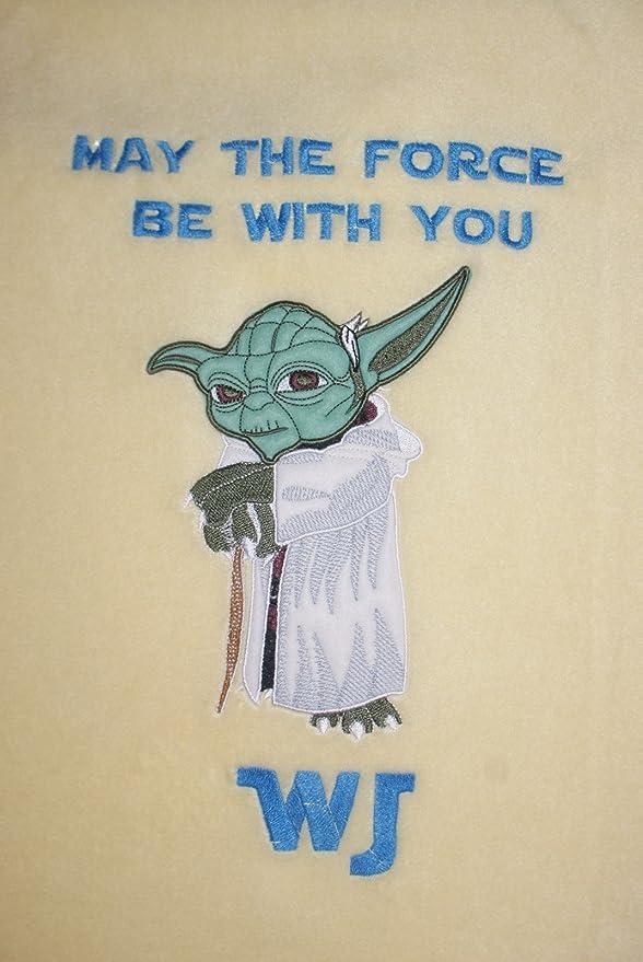 Star Wars Yoda Personalised /& Applique Soft Fleece Baby Blanket