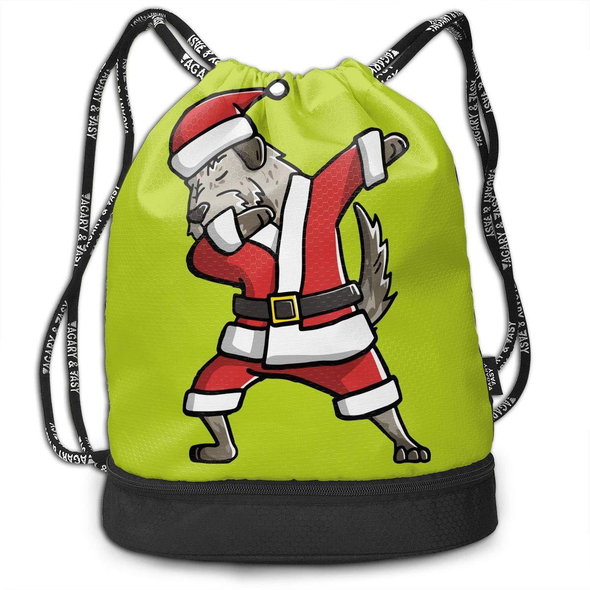 baad931f9834 Amazon.com  YyTiin Dabbing Irish Wolfhound Ugly Christmas Men Women  Waterproof Drawstring Backpack Sports Dance Storage Bags Sackpack Gym  Traveling Outdoor  ...