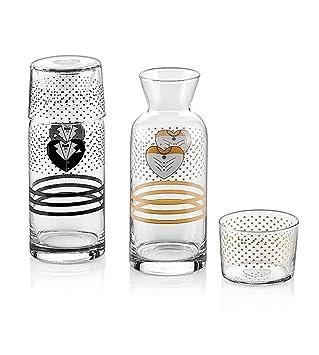 Neva Ask de I Agua Cristal Vajilla de 4 piezas Set Hombre & Mujer Agua Jarra