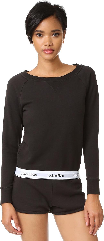 Calvin Klein Women's Modern Cotton Long Sleeve Sweatshirt